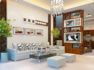 Không gian phòng khách hiện đại đầy ấn tượng