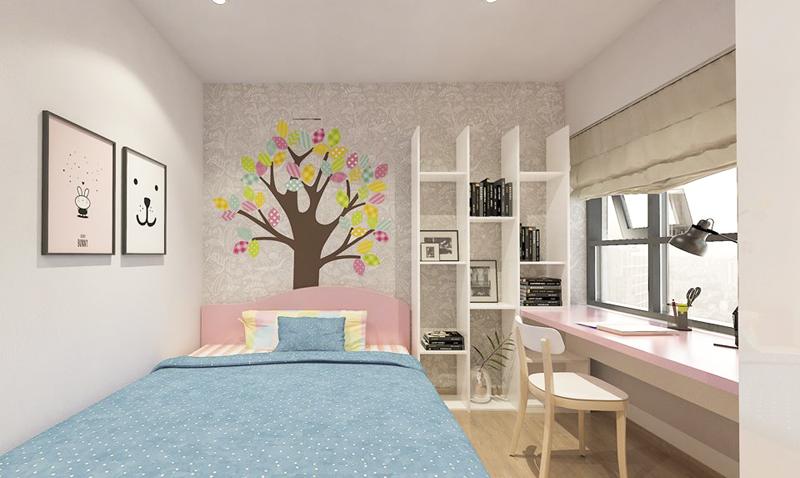 Nội thất thông minh là lựa chọn tối ưu cho những mẫu phòng ngủ của các bé gái