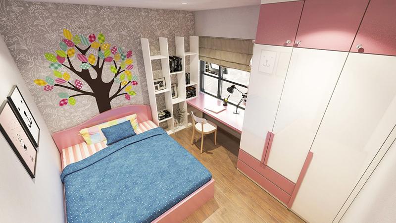 Mẫu thiết kế không gian phòng ngủ cho bé gái