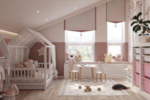Thiết kế phòng ngủ cho bé gái 2 đến 6 tuổi