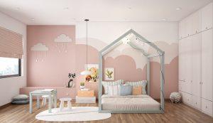 Thiết kế phòng ngủ cho bé gái từ 6 đến 9 tuổi